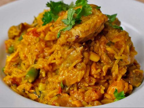 arroz atollado con jaiba