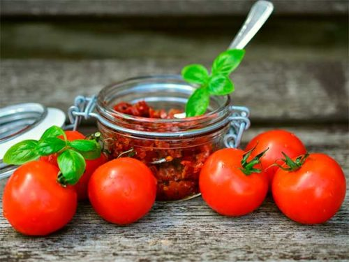 Postre de tomate